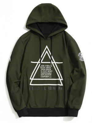 Flocking Graphic Mens Hoodie