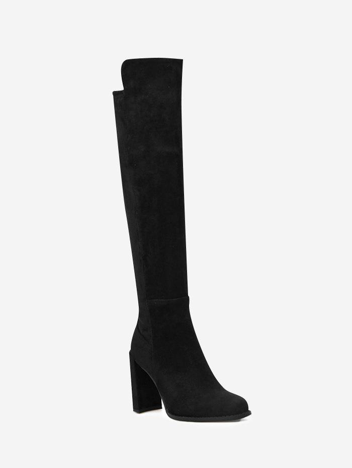 Almond Toe High Heel Thigh High Boots