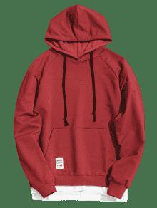 Ropa Hombre Hoodie 3xl Vino Hem De Kangaroo Rojo Pocket Panel IwOSxqBRw