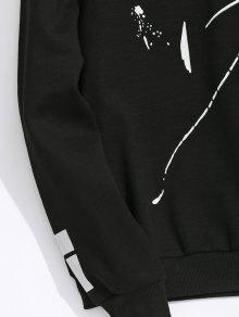 Cuello Polar Negro Con Y Redondo 2xl Sudadera Forro HqXTwYH5