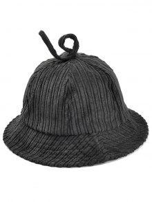 db767436cb874 25% OFF  2019 Striped Pattern Embellished Corduroy Bucket Hat In ...