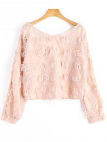 Blouse à Franges - Rose Abricot