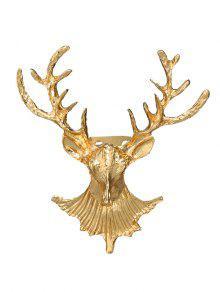 Broche De Ciervos De Navidad - Dorado
