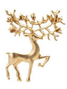 Broche De Navidad Elk - Dorado