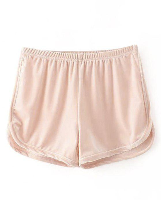 ladies Velvet Dolphin Shorts - PINK ONE SIZE