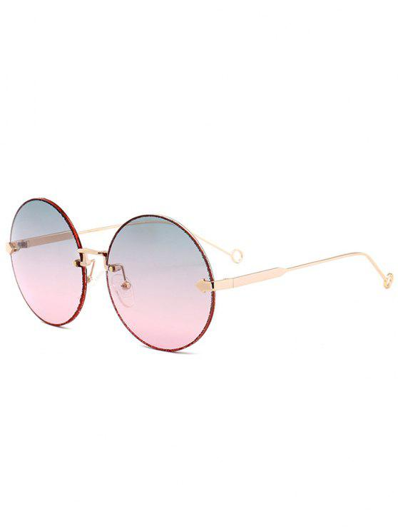 a106a91e84af3 27% OFF  2019 Arrow Embellished Rimless Round Sunglasses In BLUE AND ...