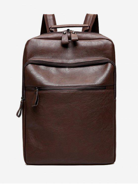 best PU Leather Multi Function Backpack - BROWN