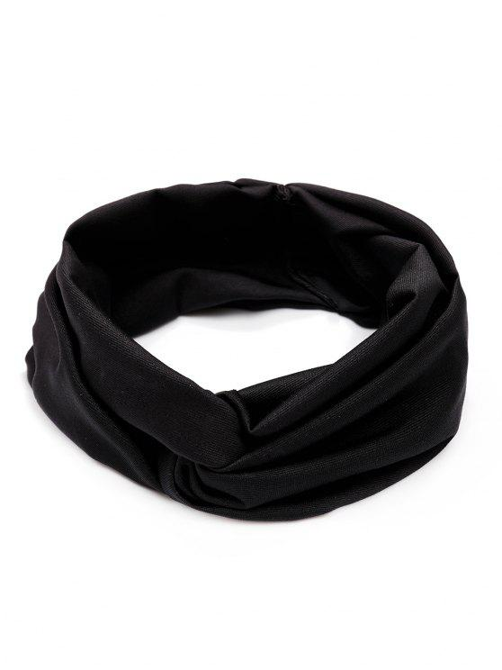online Wide Elastic Hair Band - BLACK