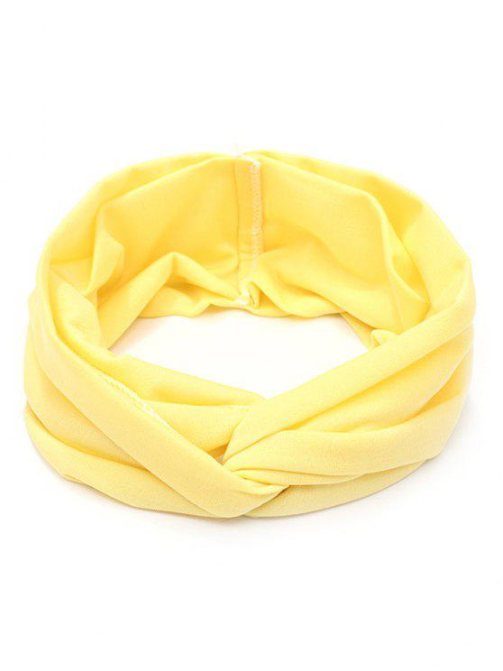 outfits Wide Elastic Hair Band - LIGHT YELLOW