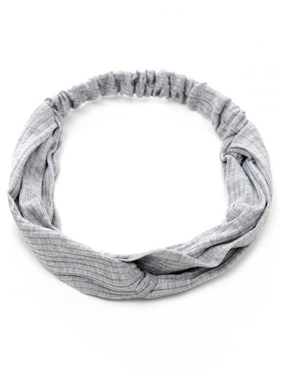 unique Elastic Striped Hair Band - GRAY