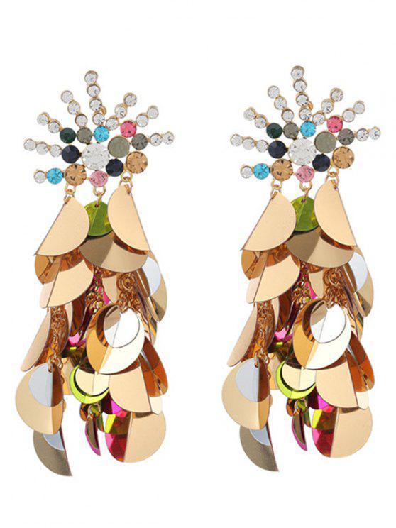 fancy Unique Rhinestoned Sequins Earrings - COLORMIX