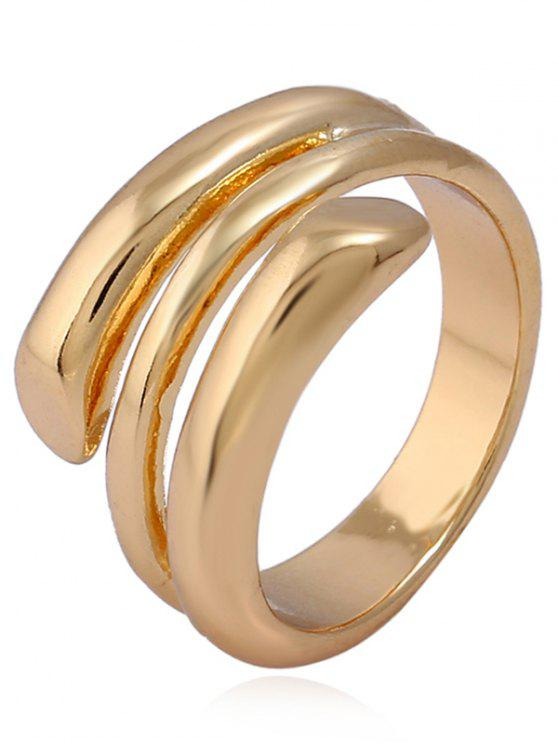 womens Alloy Simple Cuff Ring - GOLDEN ONE-SIZE