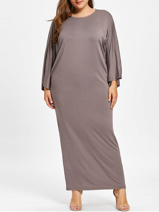 Plus Size Batwing Sleeve Maxi Dress