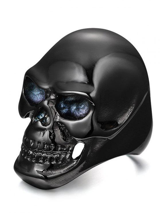 بسيطة سبيكة الجمجمة الدائري - أسود 11