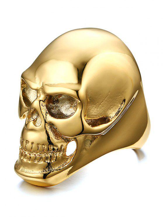 بسيطة سبيكة الجمجمة الدائري - ذهبي 9