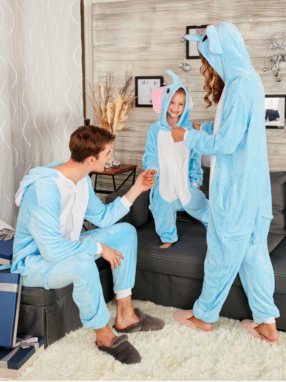 بيجامة عائلية على شكل فيل للكريسماس - أزرق أمي م