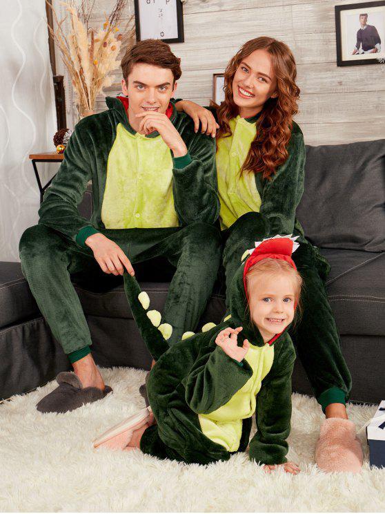 hot dinosaur animal matching family christmas onesie pajamas deep green dad s