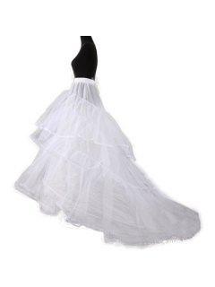 Vestido De Boda De Las Mujeres Enagua 2 Capas De La Enagua De Lolita - Blanco