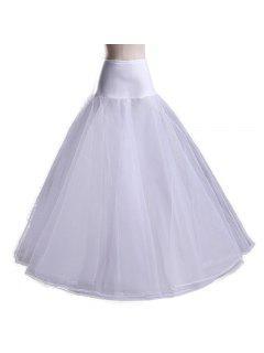 Zaful Femmes Robe De Mariée Deux Couches Petticoat - Blanc