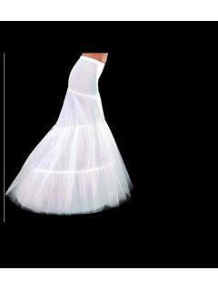 Zaful Mujeres Vestido De Novia Enagua Formal Cola De Pescado Blanco Enagua - Blanco