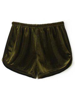 Velvet Dolphin Shorts - Army Green