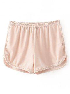Samt Dolphin Shorts - Rosa