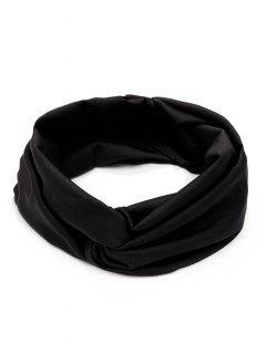 Banda Para El Pelo Ancha Y Elástica - Negro
