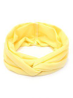 Banda Para El Pelo Ancha Y Elástica - Luz Amarilla