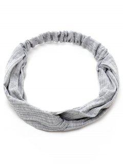 Elastic Striped Hair Band - Gray