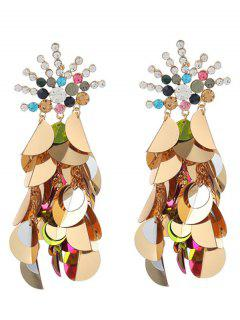 Unique Rhinestoned Sequins Earrings