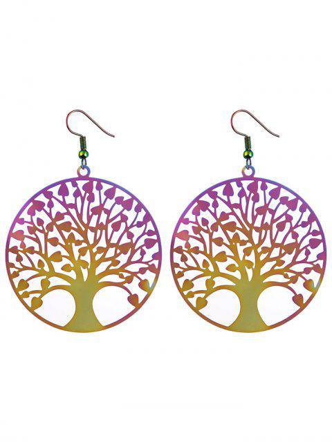 ladies Tree of Life Round Hook Earrings -   Mobile