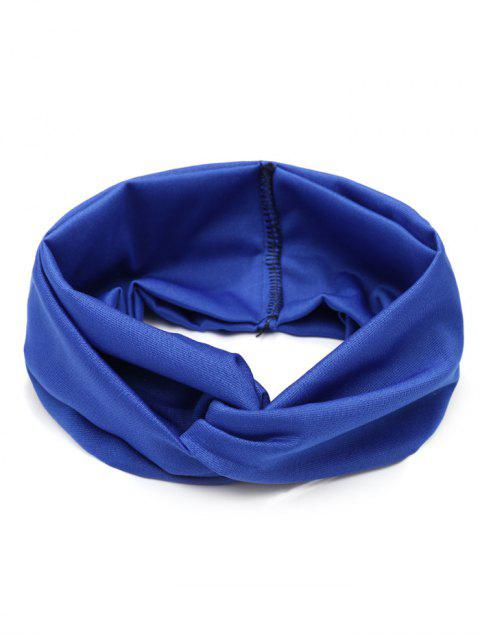 trendy Wide Elastic Hair Band - BLUE  Mobile