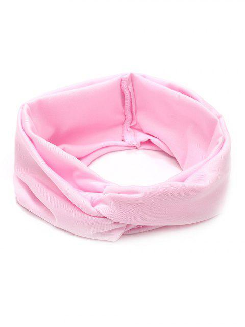 Breites elastisches Haarband - Helles Rosa  Mobile