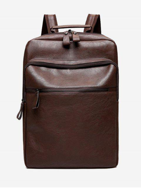 best PU Leather Multi Function Backpack - BROWN  Mobile