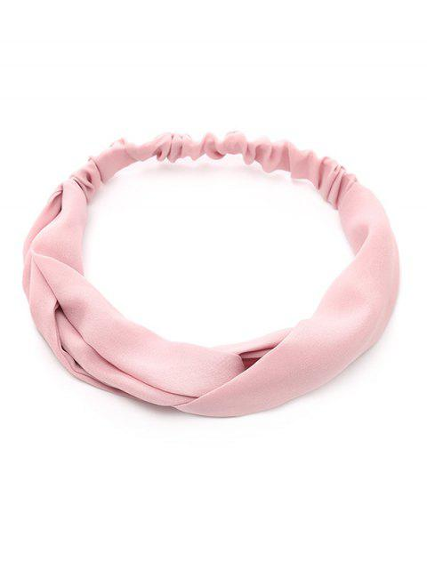lady Elastic Chiffon Hair Band - SHALLOW PINK  Mobile