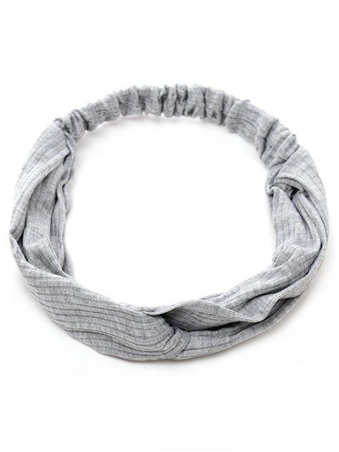 unique Elastic Striped Hair Band - GRAY  Mobile