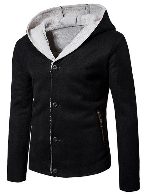 Chaqueta de gamuza con capucha Chaqueta de gamuza - Negro L Mobile