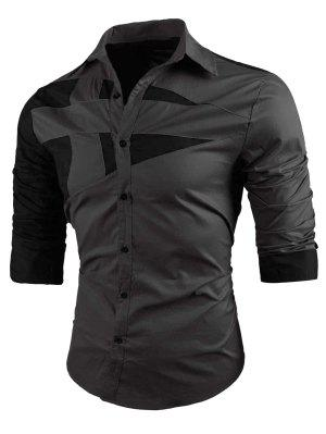 Umlegekragen Two Tone Shirt