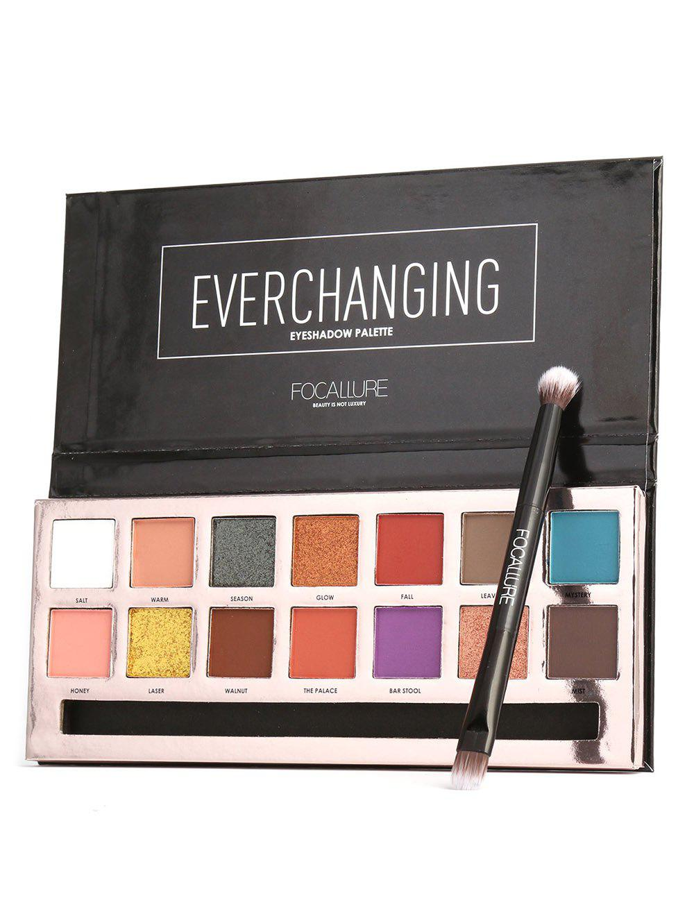 eyeshadow palette with brush