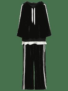 Negro 243;n Pantal Y A Sudadera Terciopelo Xl Rayas Gaucho De xFwq8WRAWY