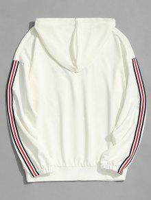 Men 2xl Hoodie Graphic Striped Clothes Blanco 4EXUnwqHx