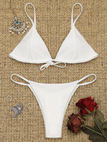 Ensemble De Bikini à Dos Tongs Cami - Blanc S