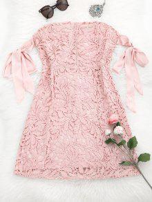 فستان مصغر دانتيل بونوت - زهري L