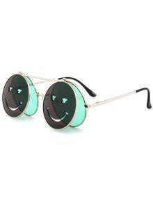 مضحك الوجه المبتسم الوجه-- فتح دائرة النظارات الشمسية على شكل -
