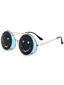 نظارات شمسية دائرية الشكل - الضوء الأزرق