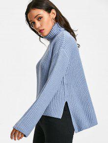 Chunky Turtleneck Sweater BLUE: Sweaters ONE SIZE | ZAFUL