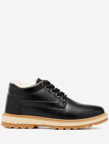 حذاء كاجوال من الجلد المزيف بكعب منخفض - أسود 41