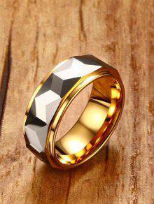 8 ملليمتر اثنين لهجة هندسية البنصر - ذهبي 9