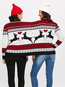 two person reindeer christmas sweater - Reindeer Christmas Sweater