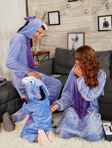 c6f53a4356 2019 Donkey Animal Onesie Matching Family Christmas Pajama In BLUISH ...